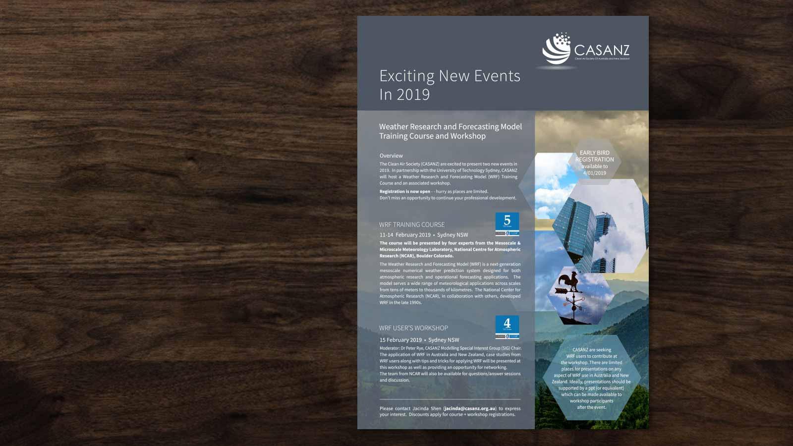 CASANZ brochure Design Melbourne