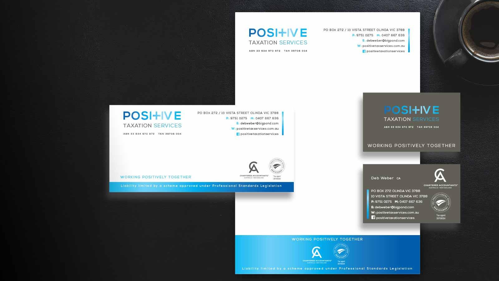 Positive-Taxation-Services-Stationery Design Melbourne