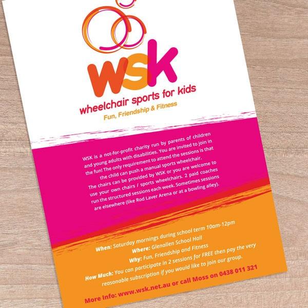 Wheelchair Sports flyer design
